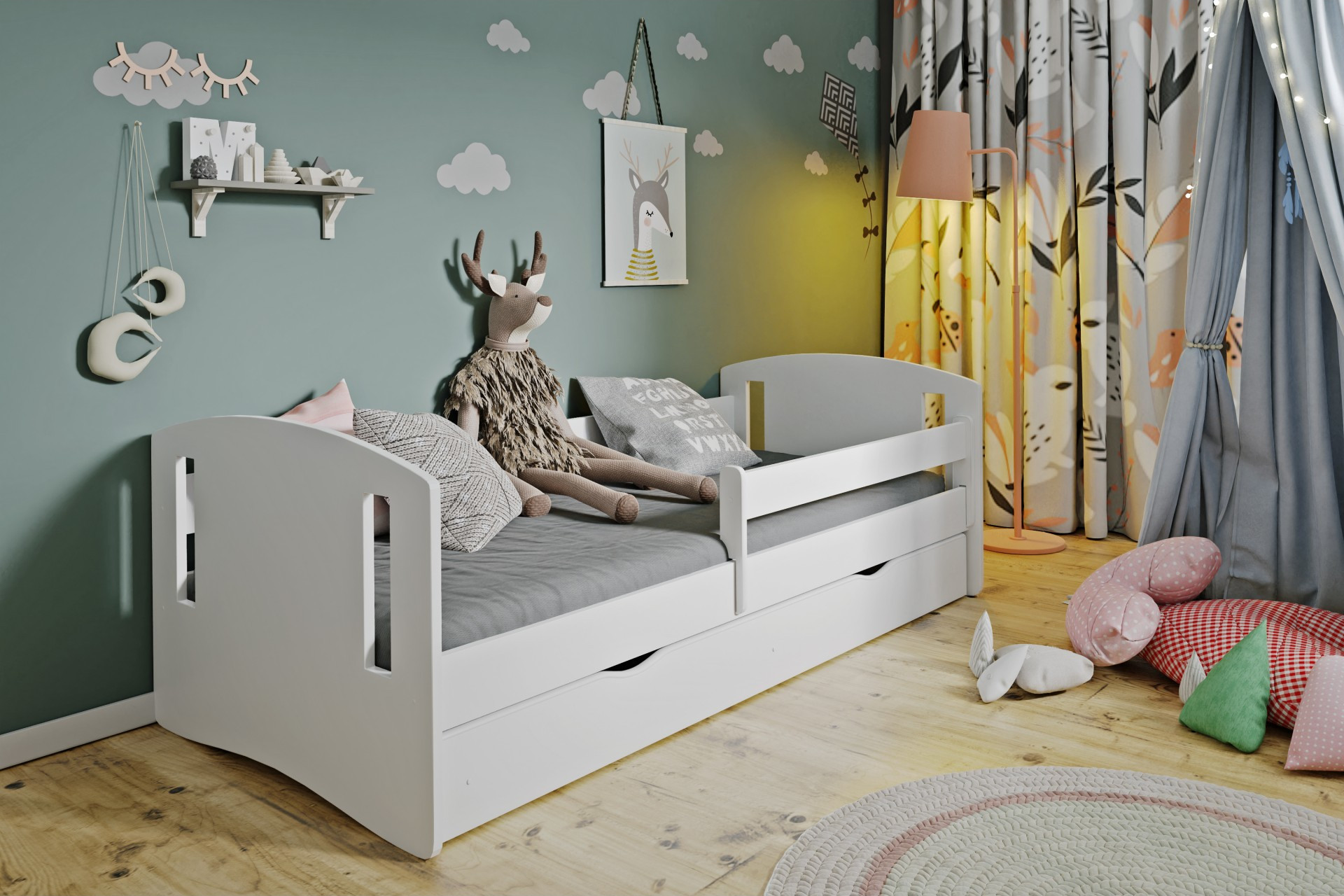 Łóżko dziecięce białe