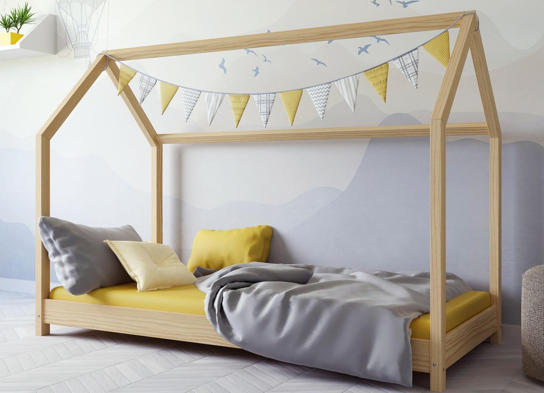 Łóżko domek w stylu skandynawskim